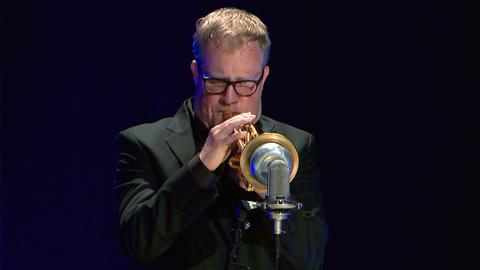 Axel Schlosser an der Trompete.