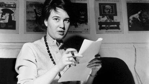 Die schöne  Ulrike Meinhof war eine renommierten Journalistin. (Foto undatiert)