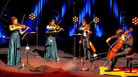 Aris Quartett auf der Bühne