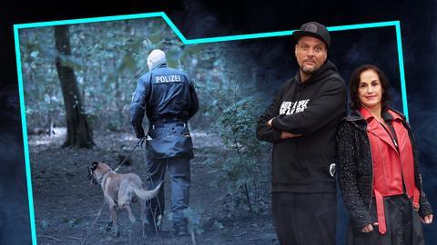 Ein Polizist mit Spürhund auf dem Titelbild