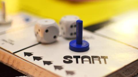 Das Startfeld auf einem Brettspiel