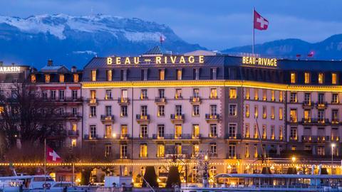 Das Hotel Beau-Rivage am Genfer See
