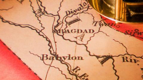 Historische Landkarte von Babylon