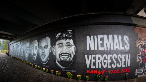 Gedenken an den rassistischen Anschlag in Hanau am 19. Februar 2020