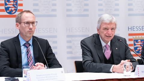 Sozialminister Kai Klose und Ministerpräsident Volker Bouffier
