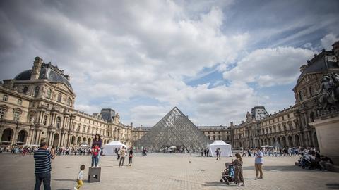 Das Louvre-Museum in Paris
