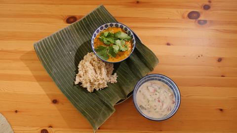 """Vegetarisches Andhra """"Chicken"""" Curry mit Tofu"""