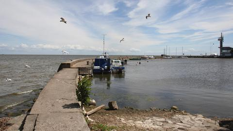 Mole des Hafens von Nida