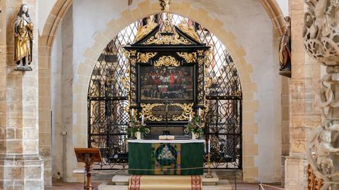 Das Altarretabel im Dom St. Marien Freiberg.