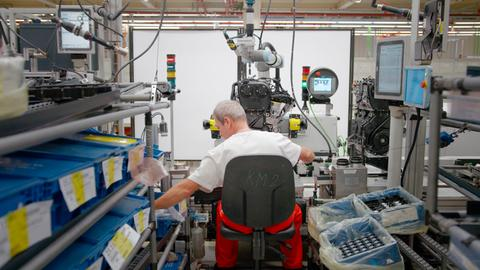 In der Audi-Produktionsstätte.