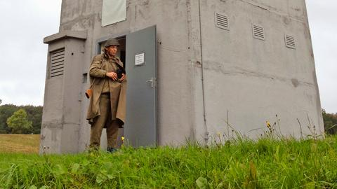 Das Wunder von Großburschla:  Einer der wenigen erhaltenen Wachtürme an der ehemaligen innerdeutschen Grenze bei Großburschla. Heute beherbergt er ein Dokumentationszentrum.