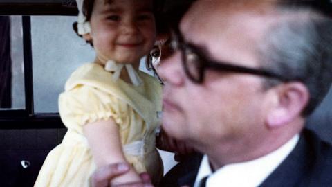 Leo Wagner mit seiner Tochter.