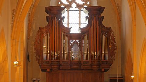 Antike Orgel Burgkirche Ingelheim