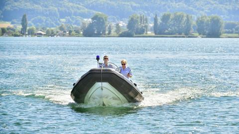 Boot der Wasserschutzpolizei auf See