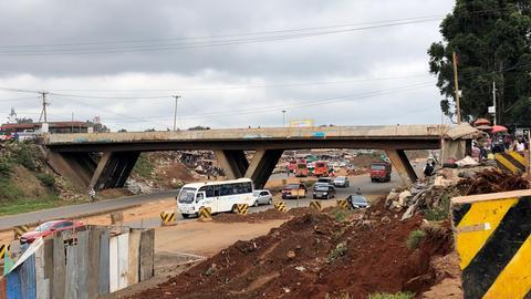 Die Brücke der kleinen Wunder in Kenias Hauptstadt Nairobi.