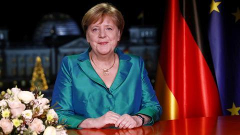 Angela Merkel bei der Neujahrsansprache 2019