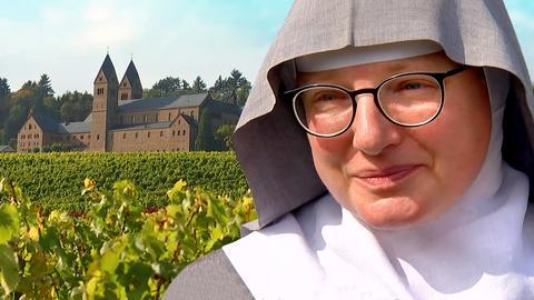 Eine Nonne aus dem Kloster St. Hildegard in Rüdesheim.