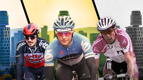 Drei Radfahrer