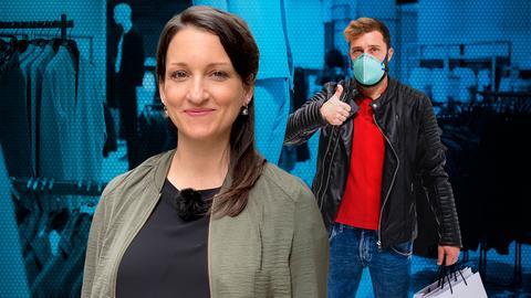 Julia Tzschätzsch macht sich auf die Suche nach Antworten: Was treibt die Menschen ins Einkaufszentrum zum Beispiel nach Baunatal, wo die vorsichtige Öffnung im Lockdown versucht werden soll.