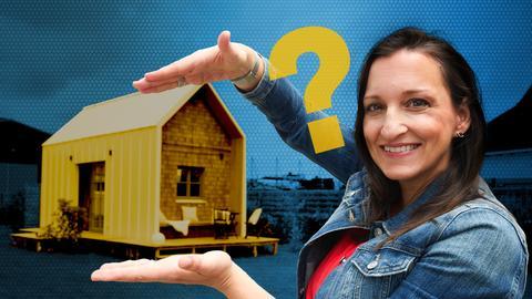 """Julia Tzschätzsch macht sich für """"Engel fragt"""" auf die Suche nach Antworten. Wieviel Wohnraum brauchen wir zum Glück?"""