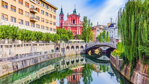 Die Drei-Brücken, das Wahrzeichen von Ljubljana