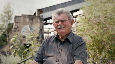Detlef Thieser, ehemaliger Hüttenschlosser während der Dreharbeiten