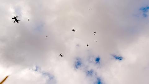 Drohne Gewitterforscher