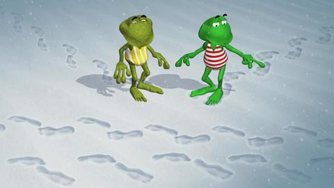 Fridolin und Kröti im Schnee