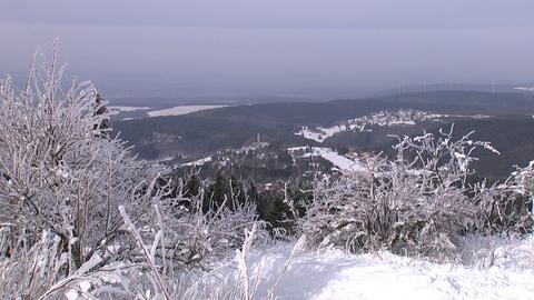 Verschneiter Feldberg im Taunus