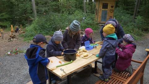 Kinder der Waldkita Schiffenberg