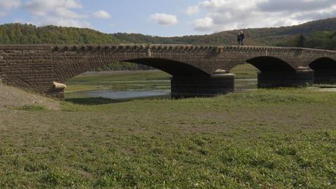 Wetterrückblick 2020 Brücke Asel Edersee