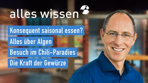 Themen sind u.a.: Konsequent saisonal essen?, Alles über Algen, Besuch im Chili-Paradies, Die Kraft der Gewürze.