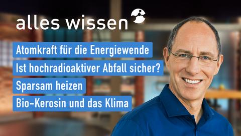 Themen sind u.a.: Atomkraft für die Energiewende, Ist hochradioaktiver Abfall sicher?, Sparsam heizen, Bio-Kerosin und das Klima.