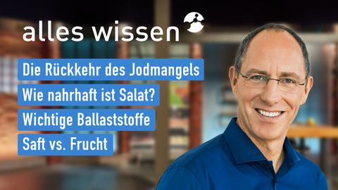 Themen sind u.a.: Die Rückkehr des Jodmangels, Wie nahrhaft ist Salat?, Wichtige Ballaststoffe, Saft vs. Frucht.