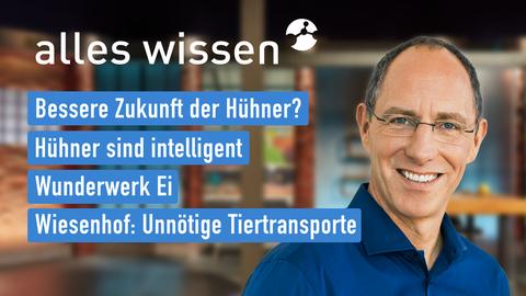 Themen sind u.a.: Bessere Zukunft der Hühner?, Hühner sind intelligent, Wunderwerk Ei, Wiesenhof: Unnötige Tiertransporte.