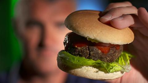 Ein selbstgemachter Burger