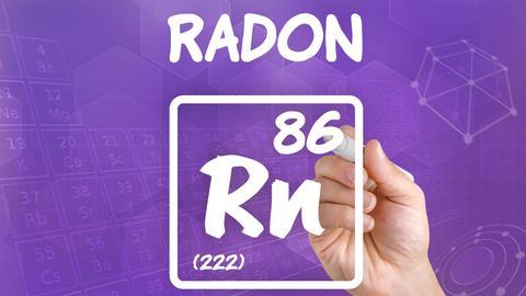 Edelgas Radon