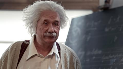Computeranimation von Albert Einstein