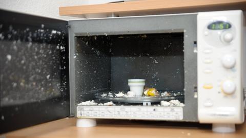 Explosion Mikrowelle