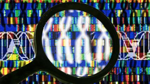 Chromosomen, DNA-Sequenz, Gene, Symbolbild Entschlüsselung des Erbguts, Gentechnik