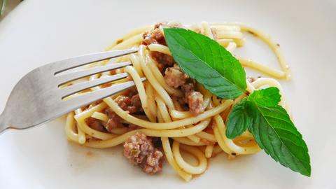 Kleine Portion Pasta