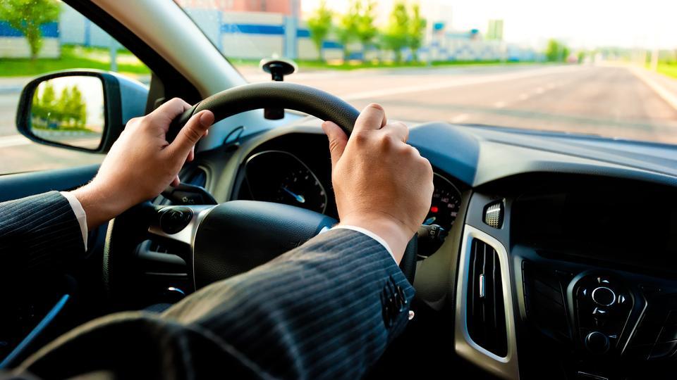 Auto Innenraum Fahren Lenkrad