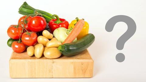 Obst und Gemüse Lebensmittel Quiz Rätsel