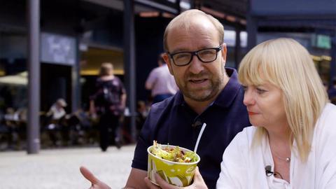 Mario Berwald und Elke aus Griesheim.
