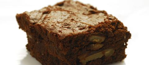 Haselnuss-Birnen-Brownies