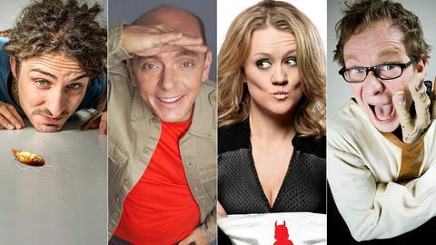 Die Comedians (v.li.): el mago masin, Bernhard Hoëcker, Lisa Feller, Martin Sierp