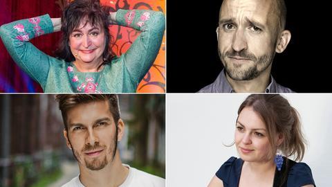 Comedy Tower: (v.li.) Lizzy Aumeier, Markus Barth Simon Stäblein und Fee Badenius