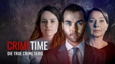 Die Protagonist*innen von Crime Time. Text: Preview. Crime Time - Die True Crime Serie