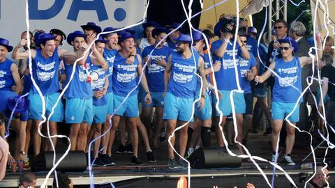 Darmstadt feiert den Aufstieg 2014