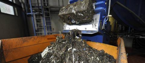 Biomüll wird verarbeitet